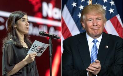Americký prezident Trump nespoznal nositeľku Nobelovej ceny, ktorú sexuálne zneužívali bojovníci Islamského štátu