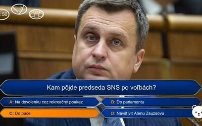 Andrej Danko půjde do puče, Fico trhat parkety. Toto jsou nejlepší meme obrázky reagující na slovenské volby