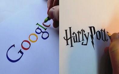 Anglický krasopisec prekresľuje so skvelou presnosťou známe logá na papier. Stačí mu na to iba trpezlivosť, pero a atrament