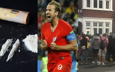 Angličtí dealeři nestíhali po vítězné penaltě prodávat kokain. Fanoušci sledovali zápas i přes okno na ulici