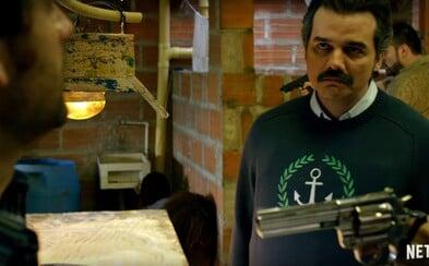 Ani vláda ani policajti nestačia na Pabla Escobara. Prvý trailer 2. série Narcos šliape na plný plyn