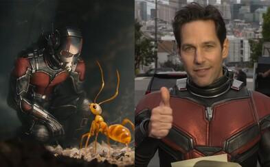 Ant-Man bude mať v dvojke odlišný oblek a fanúšikovia si z jeho hlášok nevedia prestať uťahovať