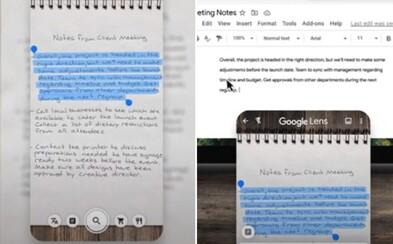 Aplikace od Googlu ti zkopíruje rukou psaný text rovnou do počítače. Jak funguje?