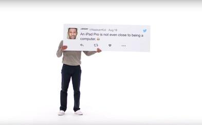 Apple na sťažnosti v odkazoch na Twitteri odpovedá rovno reklamami. Každý komentár získal vlastné video aj s vysvetlením, prečo sú ich produkty lepšie