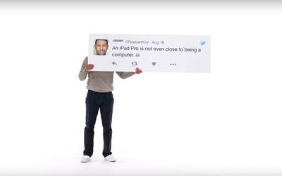 Apple na stížnosti ve vzkazech na Twitteru odpovídá rovnou reklamami. Každý komentář získal vlastní video i s vysvětlením, proč jsou jejich produkty lepší