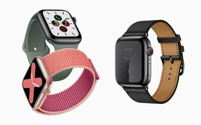 Apple Watch Series 5 přinášejí novinku. Jejich displej bude svítit neustále