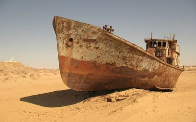 Aralské jezero - symbol lidské chamtivosti