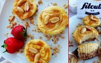 """Arašidové """"cheesecake"""" košíčky s tvarohovou plnkou ťa svojou chuťou dostanú! (Recept)"""