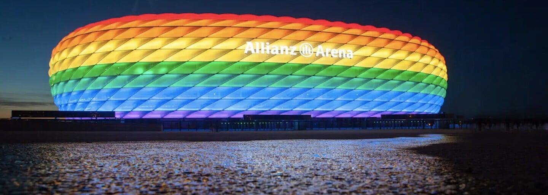 Aréna duhovými barvami svítit nebude, rozhodla UEFA. Fotbalový zápas Německa s Maďarskem symboliku tolerance neponese