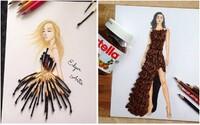 Arménský módní návrhář vytvořil neotřelé skici šatů. Návrhy doplnil o věci každodenní spotřeby