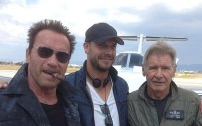 Arnold Schwarzenegger a Harrison Ford na prvej spoločnej fotke