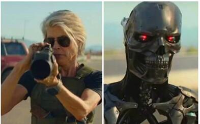 Arnold Schwarzenegger a Linda Hamilton bojují proti nejnovějšímu modelu Terminátora v explozivním traileru pro Dark Fate