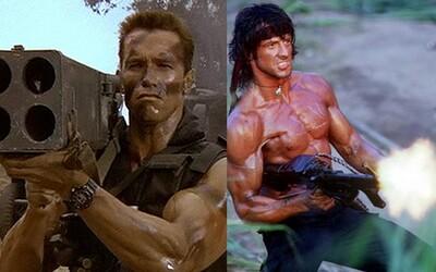 Arnold Schwarzenegger a Sylvester Stallone boli vo svojej dobe najväčšími konkurentami. Kto z nich mal lepšie filmy a kariéru?