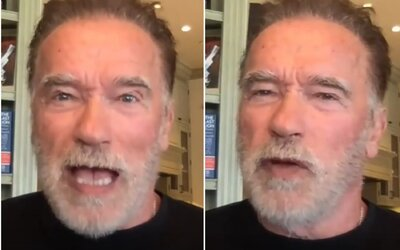 """Arnold Schwarzenegger poslal vzkaz odpůrcům očkování a roušek. Označil je za """"blbce"""""""