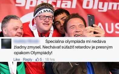 Arnold Schwarzenegger na Facebooku trefně zničil člověka, který si utahoval ze sportovců na Speciální olympiádě