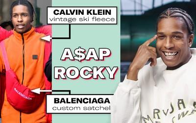 A$AP Rocky hodnotí své starší outfity pro GQ. Kousky Pyrex Vision má schované u mámy, ale už by si je neoblékl