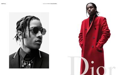 A$AP Rocky stoupá v žebříčku high fashion. Nejnověji se stal tváří kampaně značky Dior