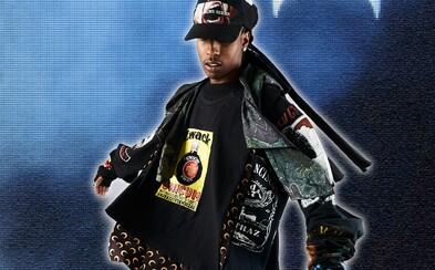A$AP Rocky v pánskych šatách zo spoločnej kolekcie AWGE x Marine Serre