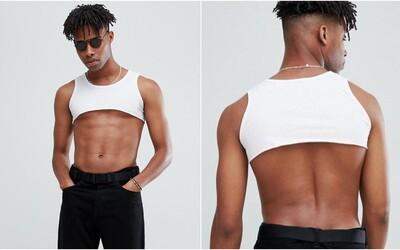 ASOS nabízí crop top pro muže. Lidem bizarní kousek připomíná spíš sportovní podprsenku