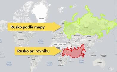 Atlasy nám pohled na velikost zkreslují. Rusko zdaleka není tak velké, jak by sis myslel