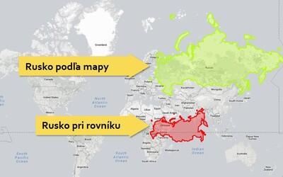 Atlasy nám pohľad na veľkosť skresľujú. Rusko zďaleka nie je také veľké, ako by si si myslel