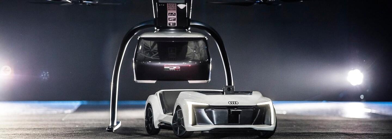 Audi a Airbus představily vlastní bezpilotní dron fungující jako taxi