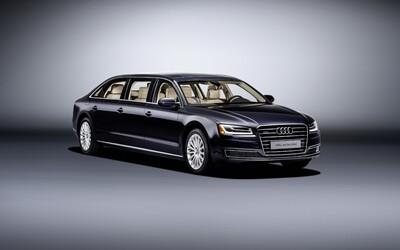 Audi A8 L Extended: 6 metrov, 6 dverí a 6 miest, to je luxusná limuzína na prianie