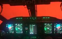 Australské letadlo vlétlo do oranžového oblaku z místních požárů. Piloti neviděli vůbec nic