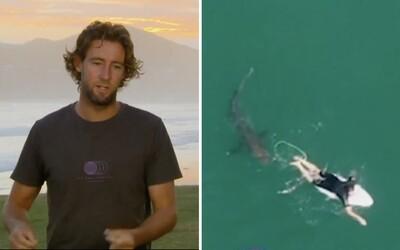 Australského surfaře téměř sežral žralok, varoval ho speciální dron pobřežní stráže