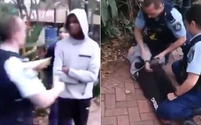 Australský policista při zatýkání skopl chlapce z domorodé komunity. Lidé ho označují za rasistu