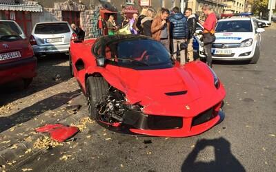 Autentické video odhaluje, jak došlo k nehodě slovenského LaFerrari za přibližně 35 milionů korun