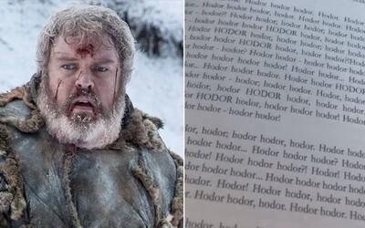 Autobiografie Hodora z Game of Thrones pobláznila internet. Všech 300 stran obsahuje jen jedno slovo