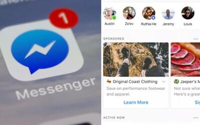 Automaticky hrajúce videoreklamy ťa začnú otravovať v Messengeri. Vedľa správ od kamarátov budeš mať prehľad o všemožných produktoch