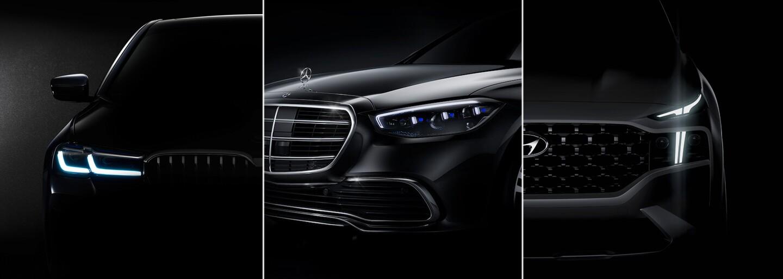 Automobilky nám ukázaly nový Mercedes řady S, nezvyklé BMW 5 a radikálně změněný Hyundai Santa Fe