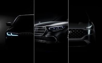 Automobilky nám ukázali nový S-kový Mercedes, vynovené BMW 5 a radikálne zmenený Hyundai Santa Fe