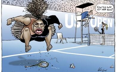 Autor karikatúry zúriacej Sereny Williams čelí kritike za rasizmus a sexizmus