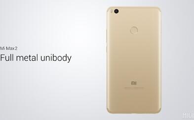 Až 6,4-palcový displej a až 5 300 mAh batéria. Xiaomi Mi Max 2 dostal do výbavy asi všetko, po čom môžeš túžiť