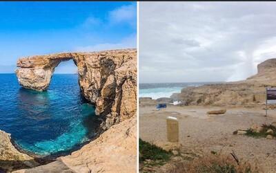 Azúrové okno je už minulosťou. Svetoznámy prírodný fenomén na Malte skončil rozbitý na márne kúsky