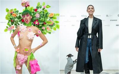 Alex Wortex v tangáčoch zahalená len do kvetov a Čaputová v elegantnej čiernej. Pozri si outfity celebrít na Fashion LIVE!
