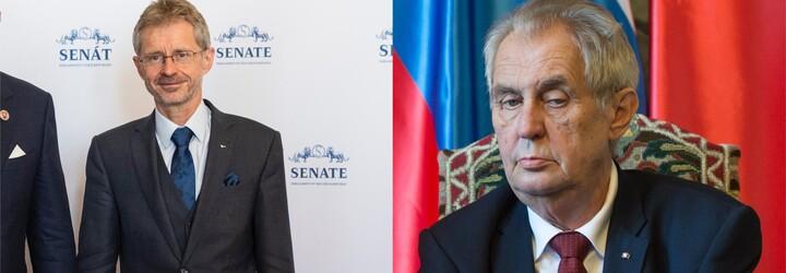 Je to projev nejhlubšího úpadku, kritizuje šéf Senátu Vystrčil prezidenta, který novináře označil za hyeny