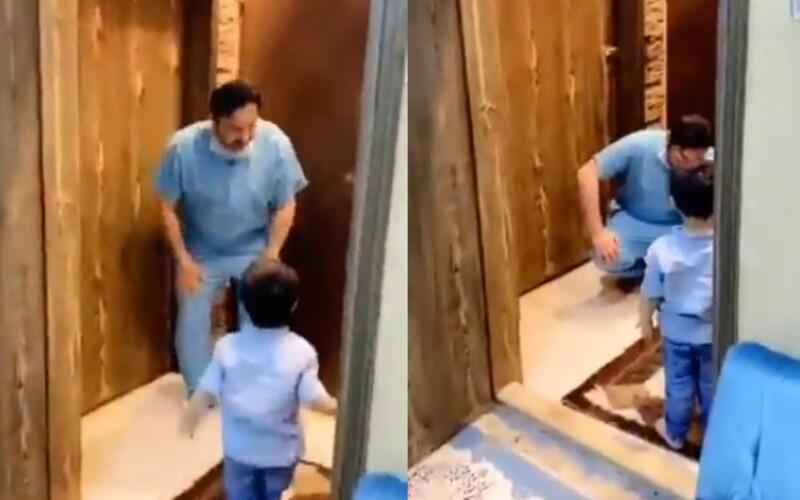 Doktor sa neubránil slzám, keď musel odmietnuť objatie od malého syna. Vrátil sa z boja proti koronavírusu.