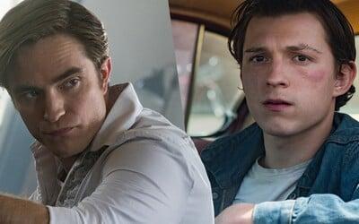 Tom Holland a Robert Pattinson sa už budúci mesiac objavia v gotickom horore na Netflixe. Sekundovať im budú úžasní herci.
