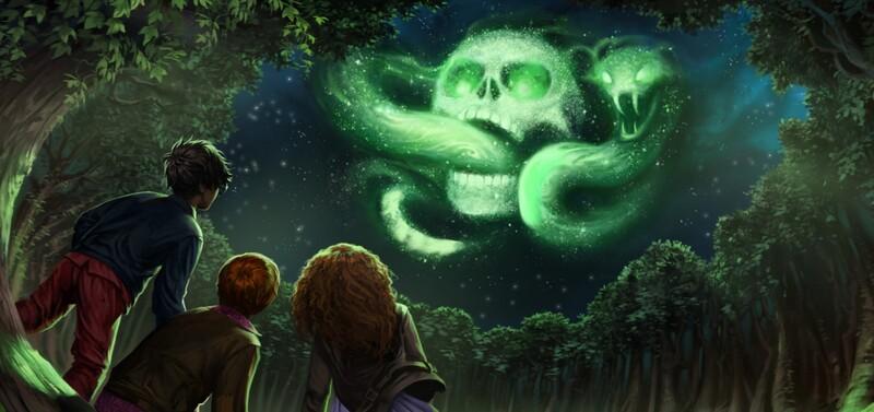 Pomocou akého zaklínadla sa dá vyčarovať temné znamenie Lorda Voldemorta?