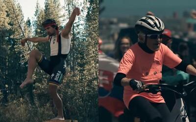 Babička proti Petrovi Saganovi. Slovenský cyklista v novej reklame bojuje s neúprosnou staršou pani, pri ktorej nestíha