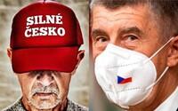 Babiš si po útoku na Kongres změnil profilovku. Trumpovskou čepici Silné Česko nahradil respirátorem