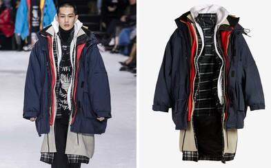 Balenciaga je na zimu pripravená vďaka kabátu so 7 našitými vrstvami, za ktorý si pýta 8000 dolárov