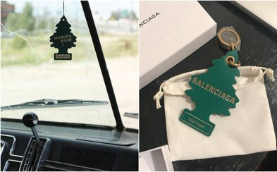 Balenciaga predstavila stromčekové osviežovače vzduchu do auta, pýta si za ne 200 €. Produkt navyše nevonia