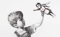 Banksy uctil zdravotníky novým dílem, malbu nechal v jedné z nemocnic s dojemným vzkazem