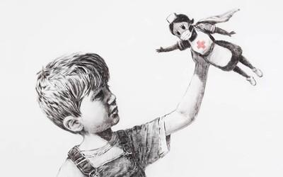 Banksy si uctil zdravotníkov novým dielom, maľbu nechal v jednej z nemocníc s dojemným odkazom