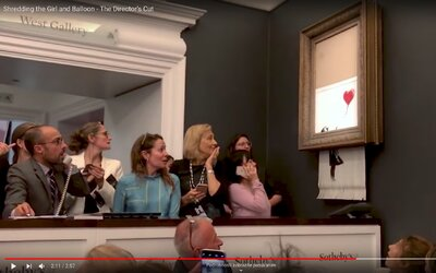 Banksy zverejňuje zákulisie skartovania vzácneho obrazu